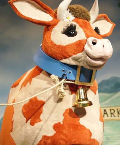 Jack and the Beanstalk at Loughborough Town Hall - Pat the Cow