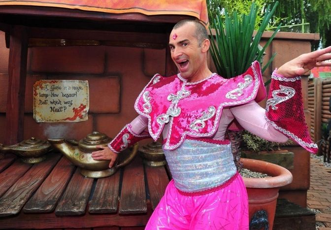 Louie Spence as the Slave of the Ring