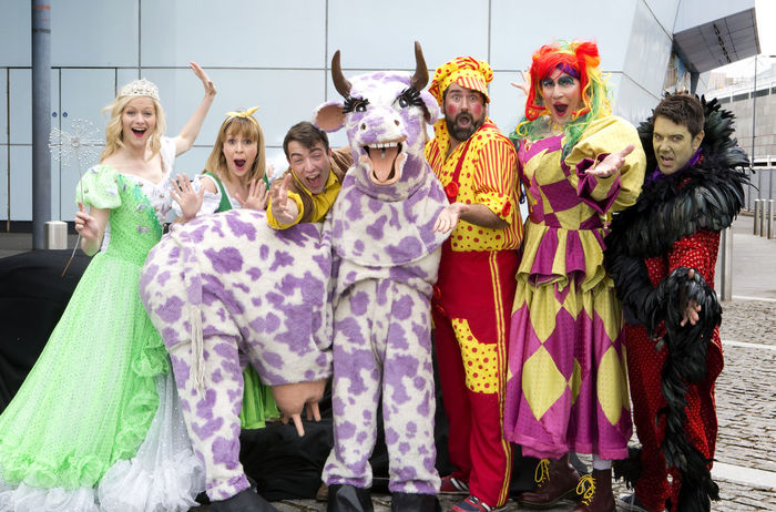 The cast of Jack and the Beanstalk